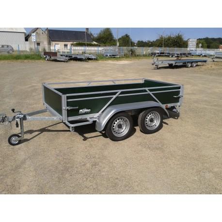 Rodéo bois 2 essieux  sans frein  750 kg  2m50 x 1m23
