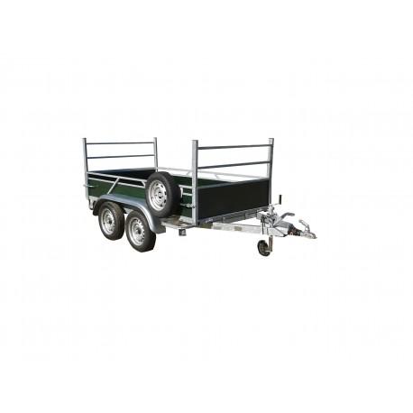 Rodéo bois 2 essieux freinés de  750 kg  2m50 x 1m23