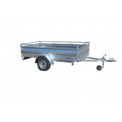 250 BA1 : Remorque robuste avec essieu750 kg sans frein dimensions int. 250 x 130 x 50