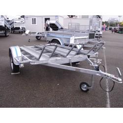 500PM3 : Châssis porte moto 3rails  2m x 1m65