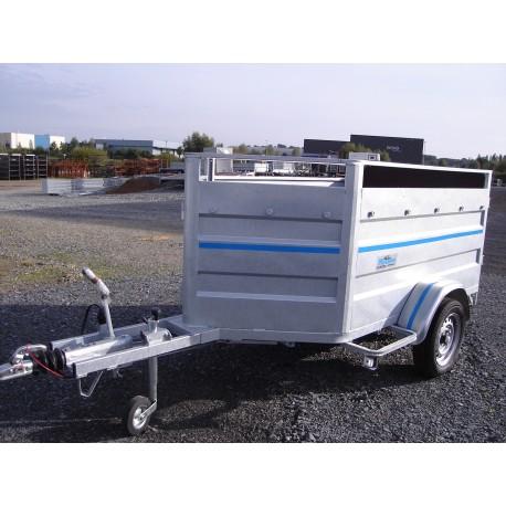 500M3F: moutonnière 2m50 x 1m20  1 essieu freiné de 750 kg  PTC 750 KG