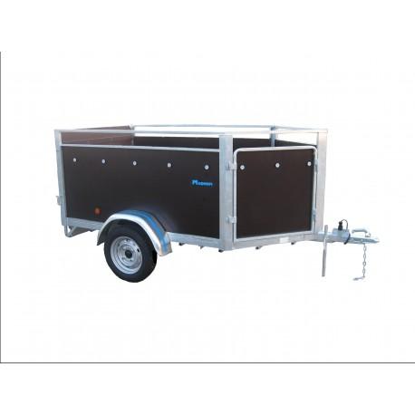 FARMER: moutonnière 2m30 x 1m25  1 essieu sans frein de 750 kg  PTC 500 / 750 KG