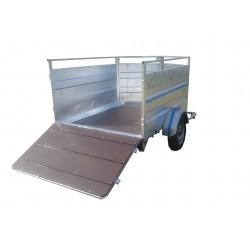 500M4 : moutonnière 2m50 x 1m50  1 essieu sans frein de 750 kg  PTC 500