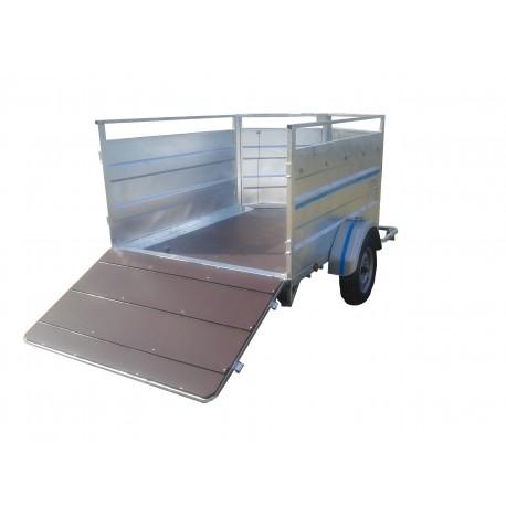 500M4 / M: moutonnière 2m50 x 1m50  1 essieu sans frein de 750 kg  PTC 500 / 750 KG