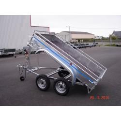 Rodéo benne Tole 2 essieux sans frein de 750 kg  2m50 x 1.25 x 0.40