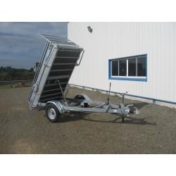 130B1  BENNE 1 essieu freiné de 1300 kg  2m50 x 1.30 x 0.50