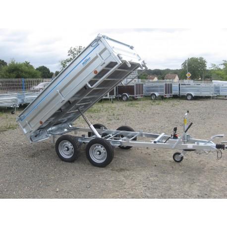 TAHITI 2 / X    BENNE 2 essieux freinés de 750 kg  2m54 x 1.54 x 0.40