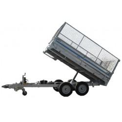 200 B1    BENNE 2 essieux freinés de 1300 kg  3M14 x 1.80 x 0.40 avec option rehausse grillagé