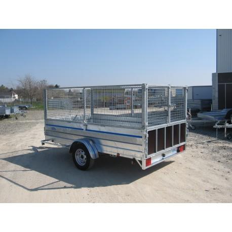 500EV  à  1300EV  plateau espace vert avec option ridelles et rehausses grillagées