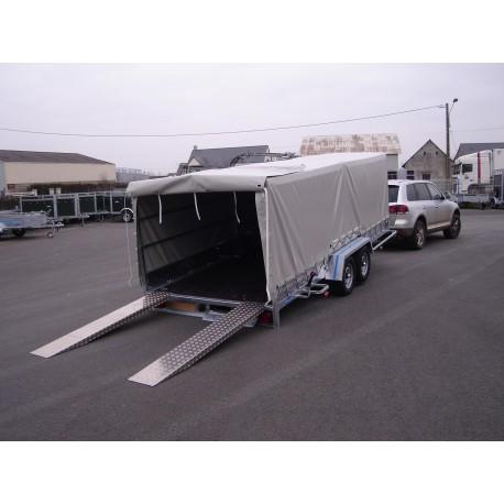 200 PVP basculant   PTC 2000 KG pour transport de voitures basses