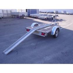 500PM1 : Châssis porte moto 1 rail  2m x 1m30