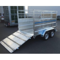 1000M4: PTC 1000 à 1300 kg : moutonnière 3M00 x 1m50 -  2 essieux freinés de 750 kg